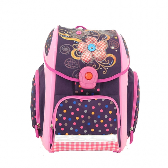 Polka Dot Printed School Backpack