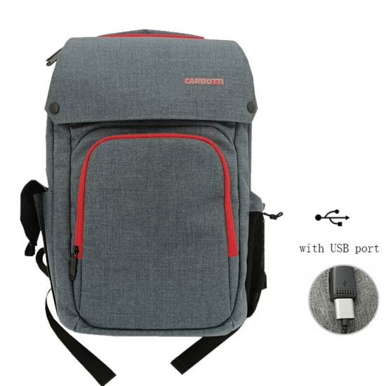 Contrast Color Antitheft Backpack