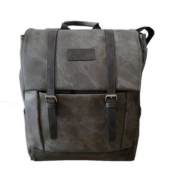 Men Leather Laptop Backpack
